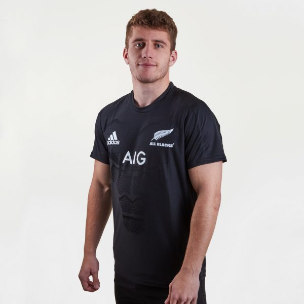 New Zealand All Blacks 2018/19 Players Performance Rugby T-Shirt