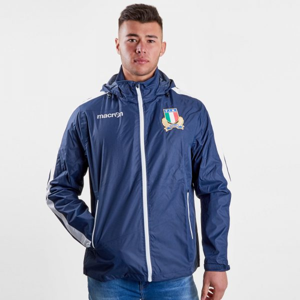Italy 2018/19 Players Full Zip Shower Rugby Jacket