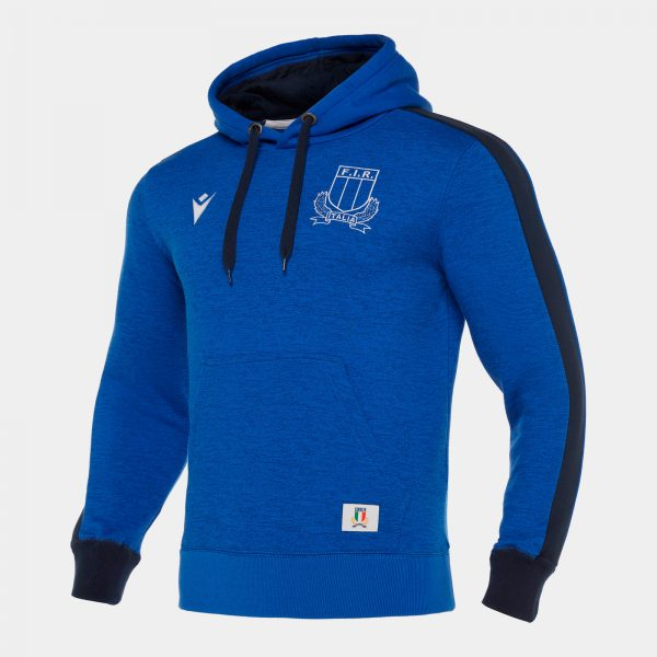 Italy 2019/20 Players Travel Hooded Rugby Sweat