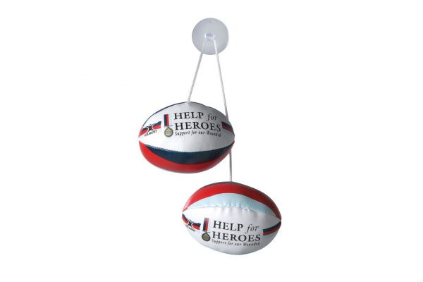 Help for Heroes Dangle Set Rugby Balls