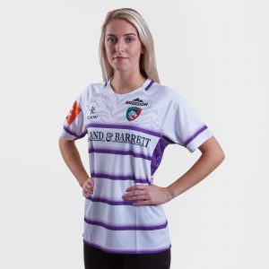 Leicester Tigers 18/19 Ladies Alternate S/S Replica Rugby Shirt
